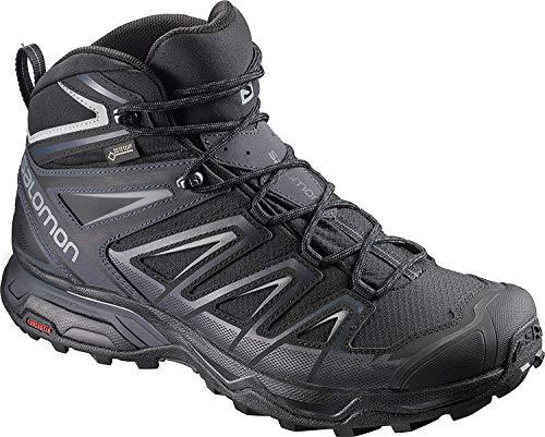 Salomon Men's X Ultra 3 Mid GTX Hiking Boots, Black/India Ink/Monument, 8