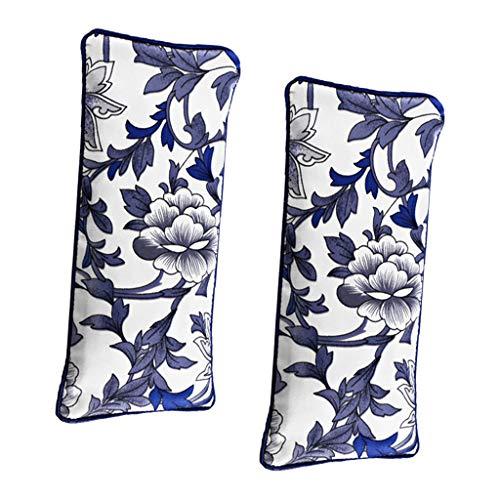 CUTICATE 2 x Yoga Augenkissen aus Seide mit Lavendel und Leinsamen Meditationskissen Yogakissen für umfassende Entspannun