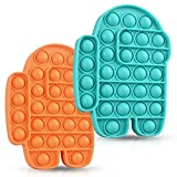 2 Packs Push Popping Bubble Sensory Fidget Toy Pop Push Bubble,Squeeze Silicone Toy (Office Product)
