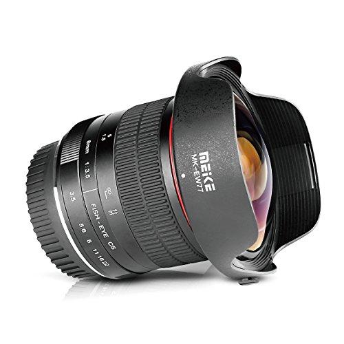 Meike Optics MK 8mm F3.5Objetivo Ojo de Pez de Ultra Gran Angular para Canon EF, Negro