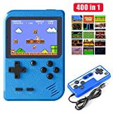 Diswoe Handheld Game Console, Retro Mini Game Player with 800mAh Rechargeable Battery, 400 Classical FC Games, 2.8-Inch Color Screen, Support for Connecting TV & Two Players, Gift for Kids and Adults