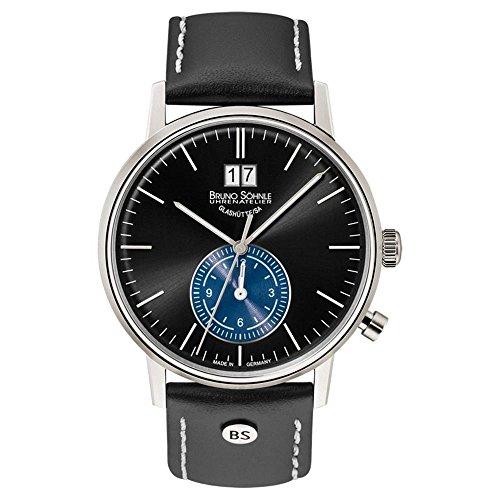 Bruno Söhnle Herren Analog Quarz Uhr mit Leder Armband 17-13180-741