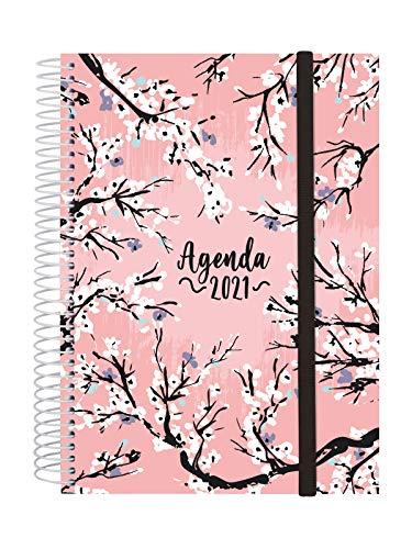 Finocam - Agenda 2021 1 Día página Espiral Design Collection Sakura Catalán