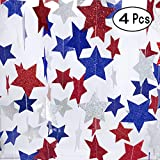 National Day Patriotic Twinkle Stars Paper Garlands Hangings Decorations Red Blue White 4th of July...