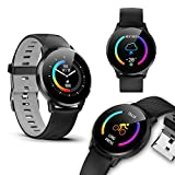 Stylish Y-16 SmartWatch (BT 5.0 Sync) - IP67 Water Resistance, Call/SMS Notifications, Blood Pressure & Heart Rate w/Motion Track & 8 Sports Modes