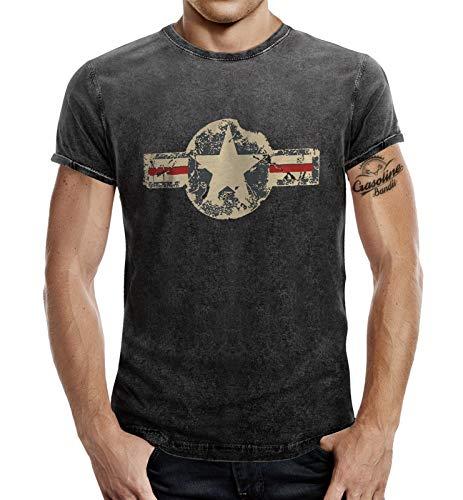 Gasoline Bandit - Camiseta - para Hombre Washed Schwarz M