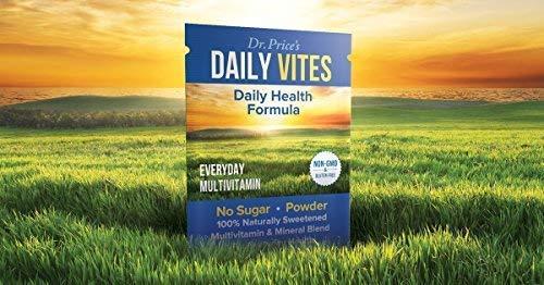 Daily Vites Multi-Vitamin Drink Mix + Minerals, B Complex, Biotin, Vitamin C & D, Calcium, Magnesium, B12 | New 30 Powder Packets Men and Woman's | Dr. Price's Vitamins | No Sugar Non-GMO Gluten Free 2