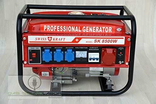Notstromerzeuger Stromerzeuger Generator Stromgenerator Aggregat 6500W, Luftkühlung, 6,5HP, 4-Takt, 12V, 220, 380V
