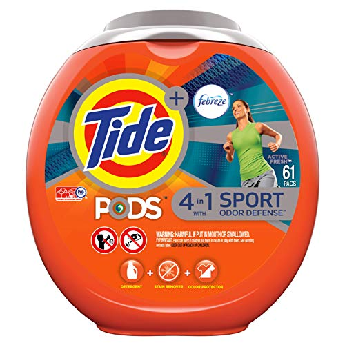 Tide PODS 4 in 1 HE Turbo Laundry Detergent Pacs2, 3.62 Pound (61 Count)