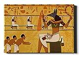 WDDHOME Well Traveled Easy Edit Arte de Pared Egipcio Antiguo para Comedor 50 × 60.23 Pulgadas Panel Combinado 2 en 1 cálido y Suave Decoración de Pared para Acampar, Viajes en automóvil L
