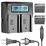 Neewer 6600mAh Li-ION Batterie pour Sony NP-F970 NP-F970 NP-F960 NP-F975 NP-F570...