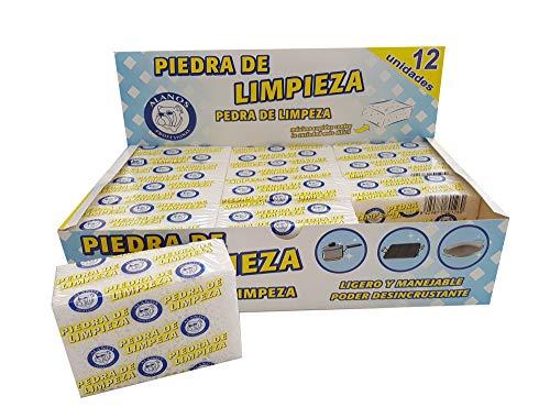 Alanos Profesional Piedras de Limpieza desincrustantes para planchas, sartenes y Utensilios de Cocina. Caja de 12 Unidades
