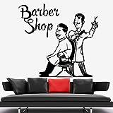 Peluquería barbero vinilo pared pegatina decoración inspiradora pared calcomanía motivacional frase pegatina pared pegatina