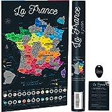 Bonanzana Carte de France à Gratter | 70x42 cm | Poster à Gratter Les...