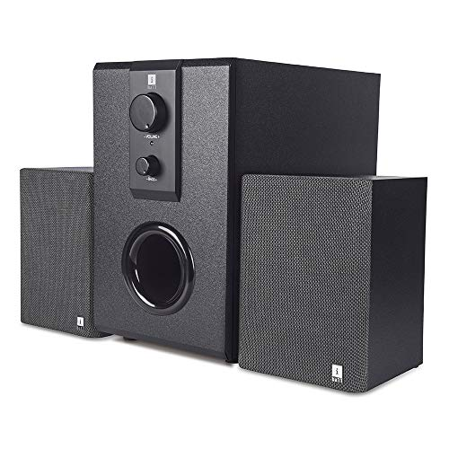 iBall Raaga Classic, 14 W, Distortion-Free Sound in Special Wooden Casing Multimedia Speaker, Black