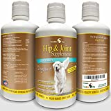 TerraMax Pro Best Hip and Joint Supplement for Dogs - Liquid Glucosamine w/Chondroitin MSM and Hyaluronic Acid - Extra Strength - Safe Natural Arthritis Pain Relief - Made in USA - 32oz