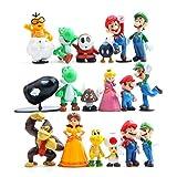 Funnyshow 18 pièces Figurine Super Mario, Super Mario Figurines PVC Jouets de...