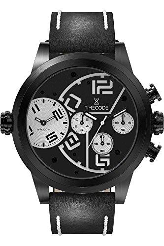 Timecode Chip 1958 Herren-Armbanduhr Dual Time Quarz TC-1001-01