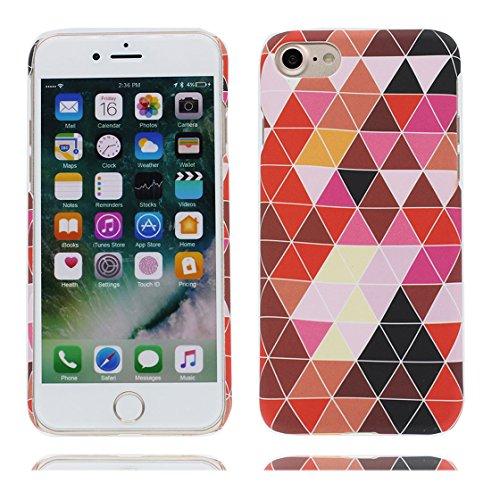 iPhone 7 Plus custodia, iPhone 7 Plus Case, rosso Marmo custodia della pelle design chiaro respingente di TPU cover di gomma silicone Copertura per Normal 5.5 pollici di iPhone 7 Plus