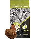 CatSpot Non-Clumping Litter: Coconut Cat Litter, All-Natural, 100% Organic, Biodegradable, Lightweight & Dust-Free (Non-Clumping, 1 Bag)