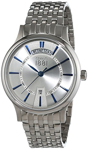 Cerruti 1881 Herren-Armbanduhr VARALLO Analog Quarz Edelstahl CRA128SN04MSA