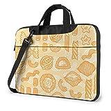 Bolsa de hombro para portátil de 15,6 pulgadas, diseño de alimentos naranja con asa, funda protectora para Ultrabook, MacBook, Asus, Samsung, Sony, Notebook