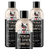 Pet Oatmeal Anti-Itch Shampoo & Conditioner In One! Smelly Puppy Dog & Cat Wash,...