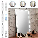 Led Vanity Mirror Lights, Doubia Charming of Hollywood Style Vanity Mirror Lights Kit, Super Bright White Light Strip with 5 Color Temperature Control makeup Lights for any Mirror(Mirror Not Included)