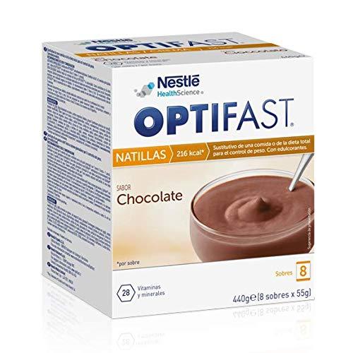 OPTIFAST Natillas Chocolate. Estuche de 8 sobres de 55g, sus