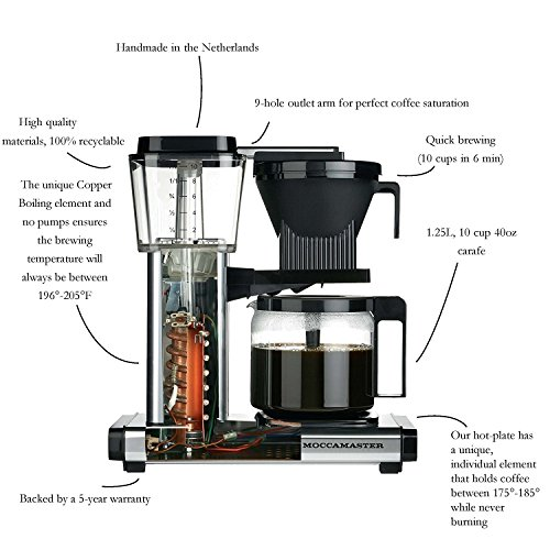 Technivorm 59462 KBG Coffee Brewer, 40 oz, Black 12