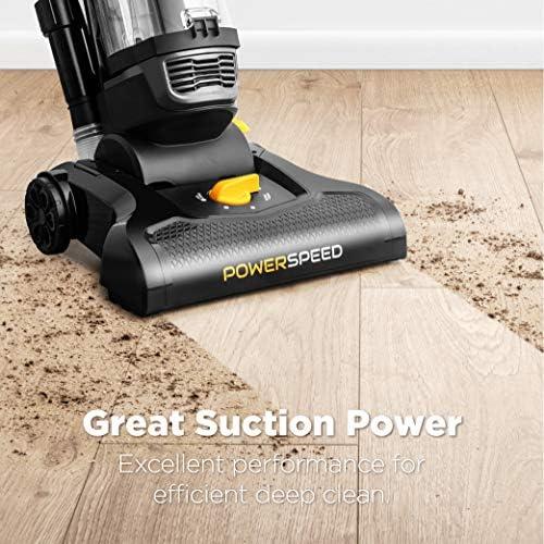 eureka PowerSpeed Bagless Upright Vacuum Cleaner, Pet Turbo, Black 13