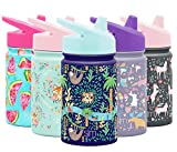 Simple Modern Kids Summit Sippy Cup Thermos 10oz - Stainless Steel Toddler Water Bottle Vacuum Insulated Girls and Boys Hydro Travel Cup Flask -Jungle Safari Purple