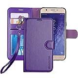 ERAGLOW Galaxy J7 2018 Case/J7 V 2nd case/J7 Refine/J7 Star/J7 Aero/J7 Crown/J7 Top/J7 Aura/J7 Eon Case,Luxury PU Leather Wallet Flip Protective Case Cover for Samsung Galaxy J737 (Purple)