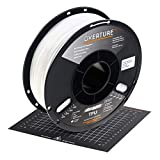 OVERTURE TPU High Speed Filament 1.75mm Flexible TPU Roll,1kg Spool (2.2lbs),3D Printer Consumables,Dimensional Accuracy +/- 0.05 mm, Fit Most FDM Printer,1 Pack (White)