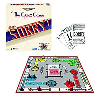 "Relive the fun: The game of ""sorry"" delighted players everywhere When introduced in the 1930's. Sorry"" Is fun to play, and easy to learn. The rules in this game are the same as the 1939 Us version! The object: move the 4 pawns under your control from..."