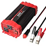 BYGD 500W Car Power Inverter DC 12V to 110V AC Converter Dual Outlets with 3.1A 4 USB Ports Car...