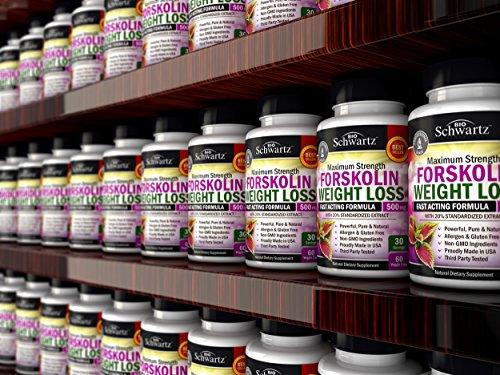 Forskolin Extract for Weight Loss. Pure Forskolin Diet Pills & Belly Buster Supplement. Premium Appetite Suppressant, Metabolism Booster, Carb Blocker & Fat Burner for Women and Men Coleus Forskohlii 3