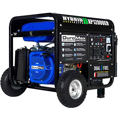 DuroMax XP12000EH Generator-12000 Watt Gas or Propane Powered...