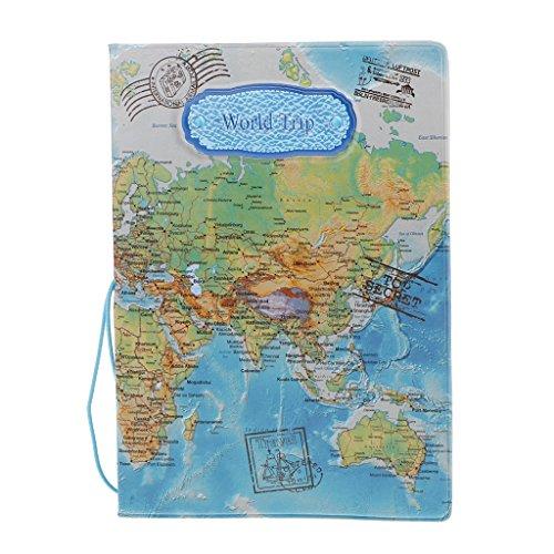 Porte-Passeport en Cuir PVC de Motifs Divers, Etui de Passeport Accessoire...
