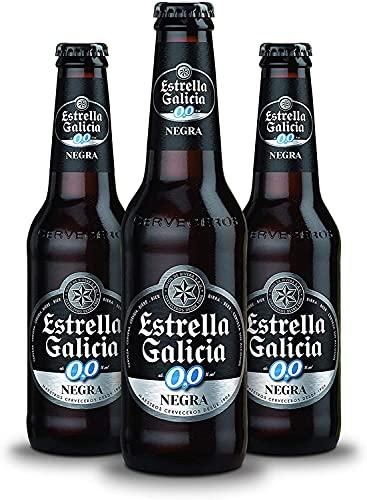 Cerveza Estrella Galicia 0,0 Negra 24x25cl