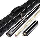 AONETIGER Queue de Billard 145 cm Embout 9.7mm 3 Pièces Professionnel Snooker Cue avec Extensions et 3/4 Tube/Étui Rigide Choisir