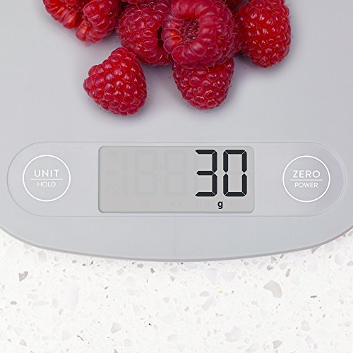 GreaterGoods Digital Food Kitchen Scale, Multifunction Scale Measures in Grams and Ounces (Ash Grey) 2