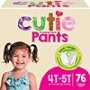 Cuties Toddler Training Pants for Girls, Size 4T-5T, 76 Count