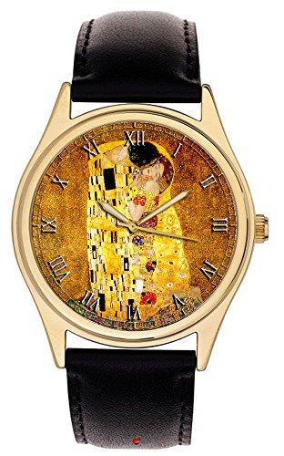 Gustav Klimt The kiss splendido moderno arte capolavoro di colori vivaci da collezione orologio da...