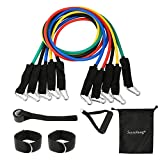 Soysehung Resistance Bands Set for Home Workout Fitness Exercise Bands with Handles, Door Anchor Attachment, Ankle Straps and Carry Bag