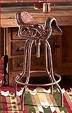 CAST IRON ADJUSTABLE OLD TIME WEST WESTERN HORSE SADDLE BAR STOOL