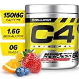 C4 Original Pre Workout Powder Fruit Punch | Vitamin C for Immune Support | Sugar Free Preworkout Energy for Men & Women | 150mg Caffeine + Beta Alanine + Creatine | 60 Servings