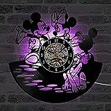 UIOLK Dibujos Animados Lindo LED Reloj de Pared diseño decoración habitación de los niños Reloj de Vinilo Reloj de Pared decoración del hogar Regalos para niños