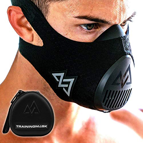 Training Mask 3.0 with Free Carry Case for Simulated Altitude Resistance Breathing, Performance Fitness, Workout Mask, Running Mask, Breathing Mask, Resistance Mask, Cardio Mask (3.0 LG + Case)