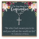 Dear Ava Confirmation Gift Necklace: Holy Confirmation for Girls, Christian Faith, Infinity Cross (Silver-Plated-Brass, NA)